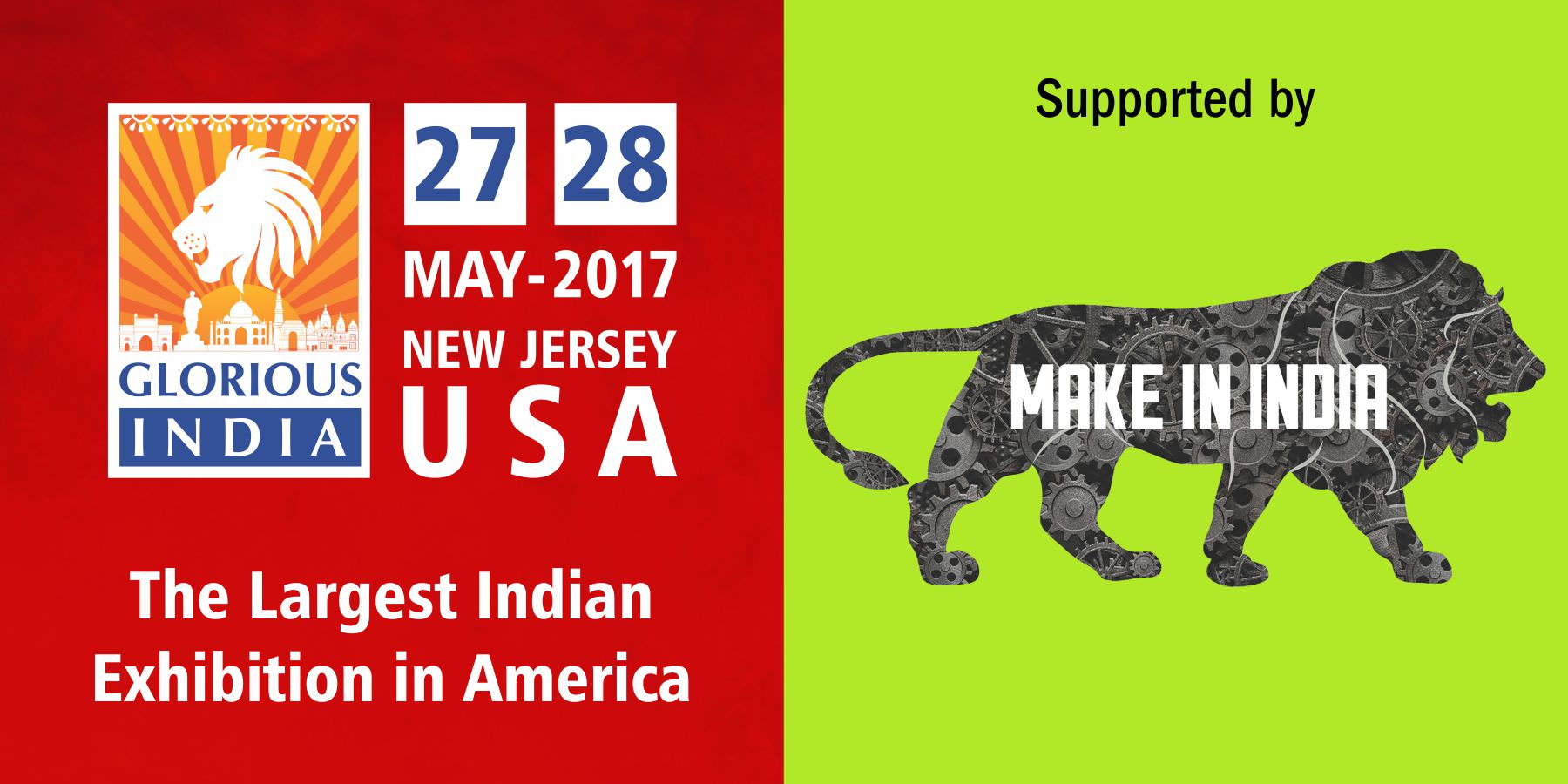Glorious India Expo - logo support of MAKE IN INDIA