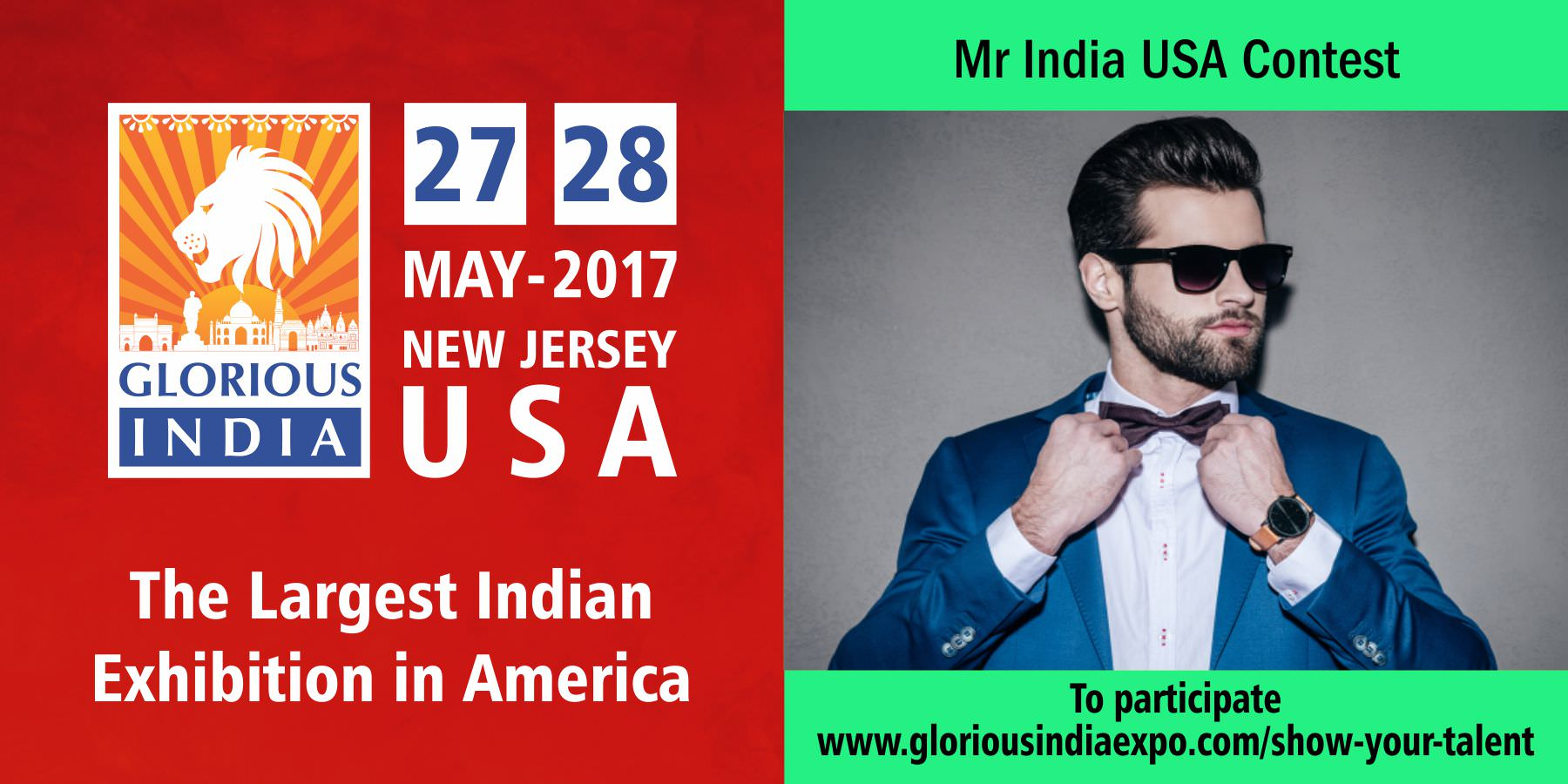 Glorious India Expo - Mr India USA Contest