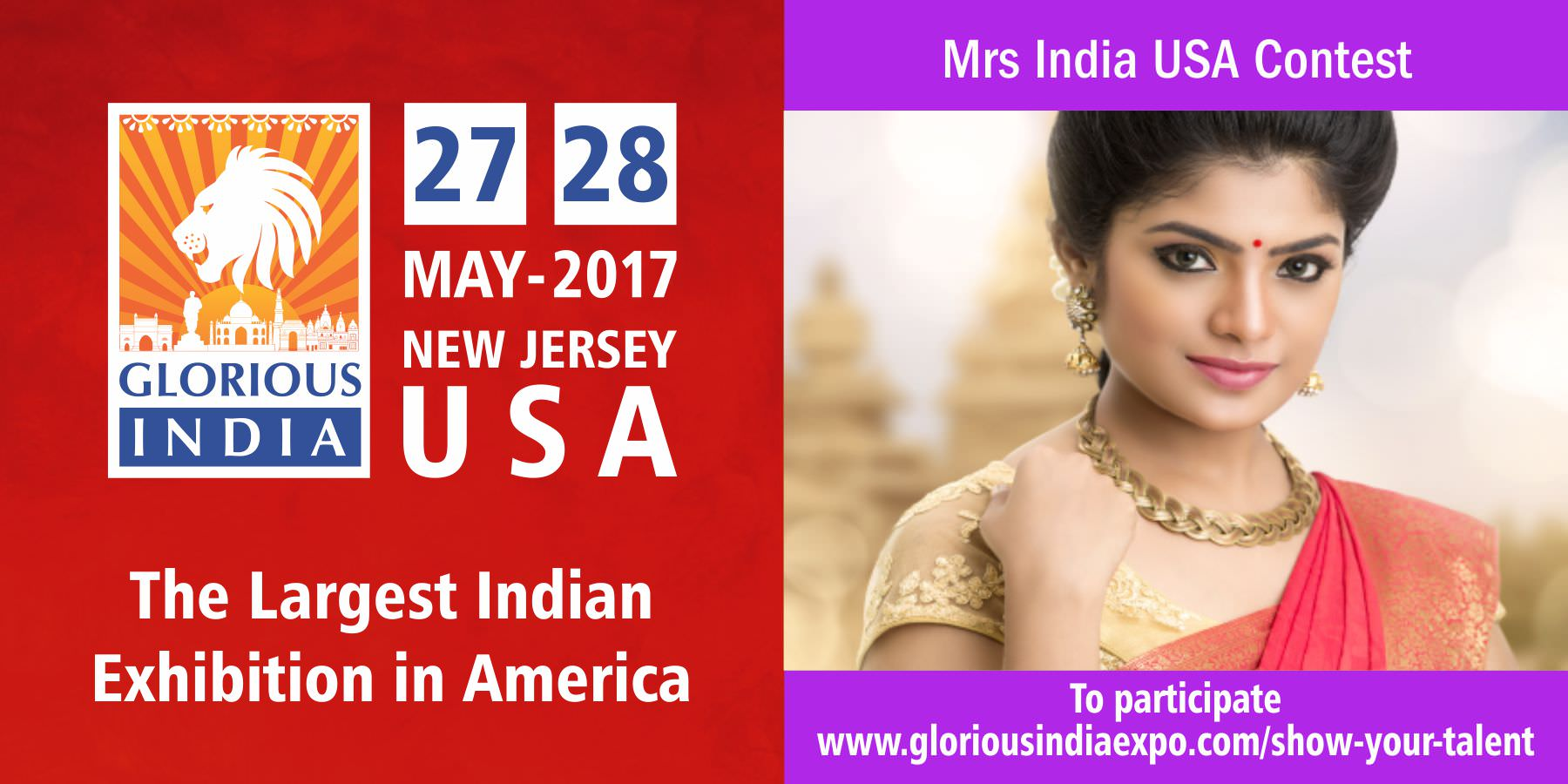 Glorious India Expo - Mrs India USA Contest