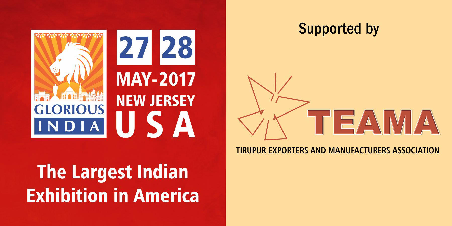 Glorious India Expo - Tiruppur Exporters Manufacturers Association (TEAMA)